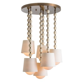 6-Light Shaded Pendant Chandelier
