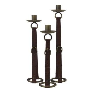 Buckle Candleholders - Set of 3