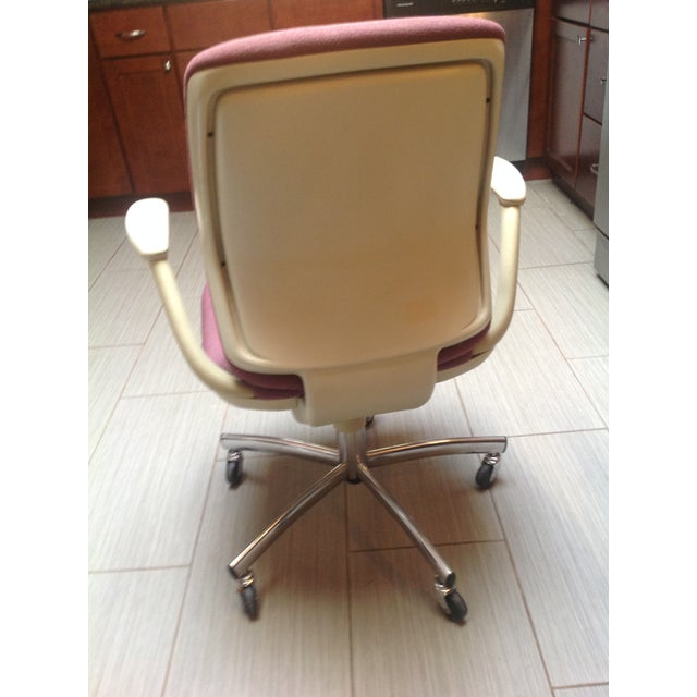 Mid-Century Steelcase Chrome Office Chair - Image 6 of 9