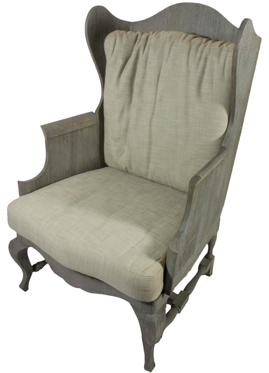 restoration hardware outdoor wingback chair   chairish