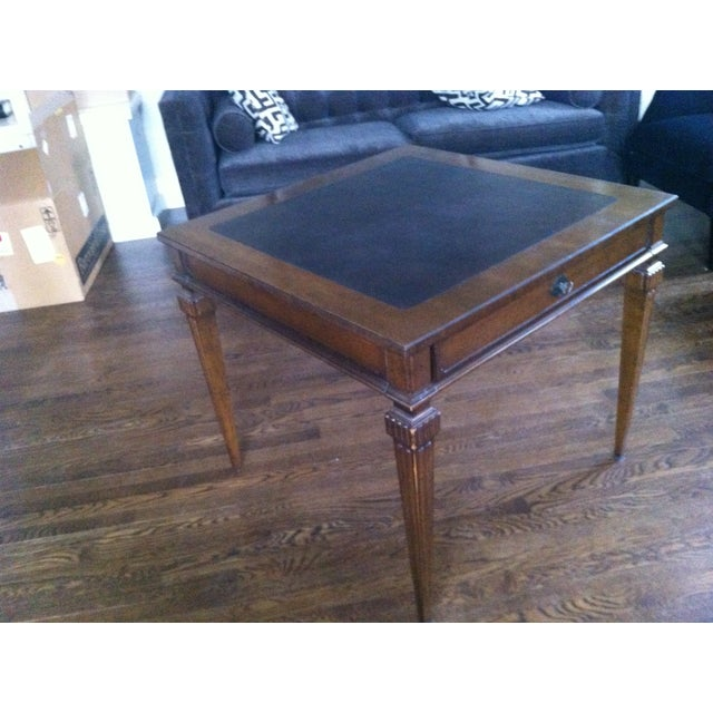 Image of Tomlinson Leather Top Game Table