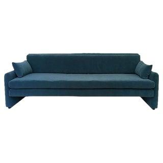Dominic Michaelis Mid-Century Modern Low Velvet Sofa
