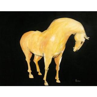 Sienna Tang Horse III Painting by Heidi Lanino
