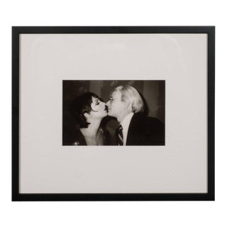 Original Christopher Makos Photograph of Andy Warhol and Liza Minelli