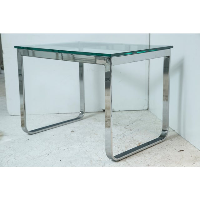 Chrome And Glass Accent Table - Image 3 of 4