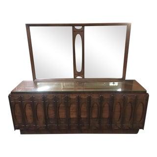Mid-Century Modern Sculpted Walnut Dresser