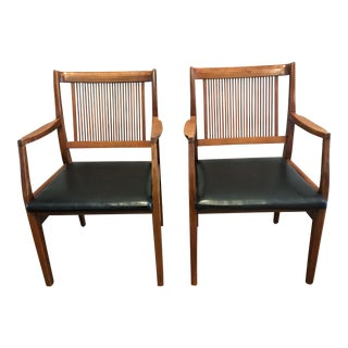 Mid-Century Modern Wood Chairs - A Pair