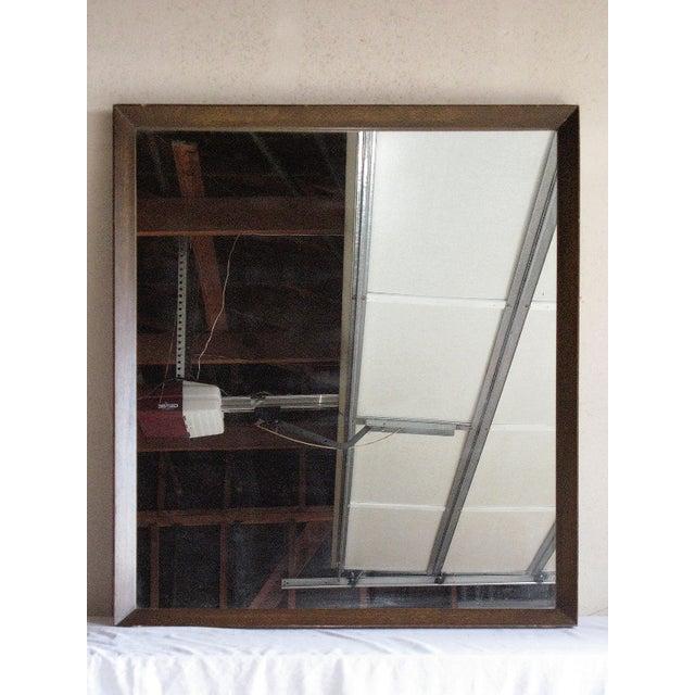 Beveled Wood Framed Mirror - Image 2 of 3