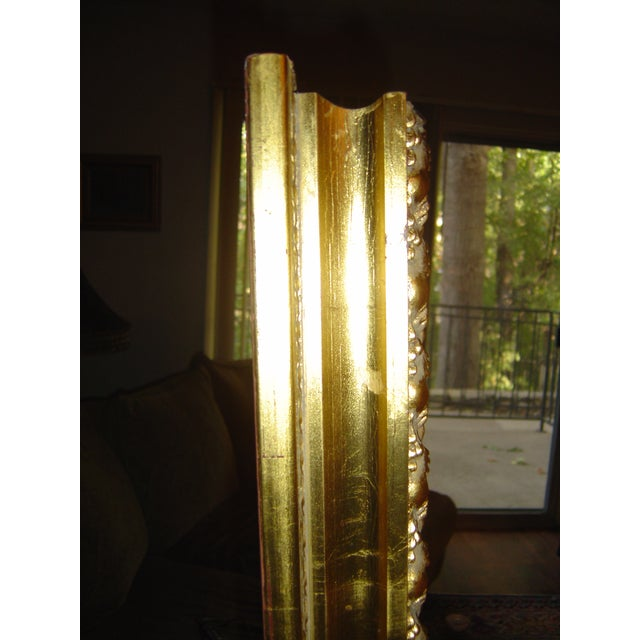 Large Beveled Glass & Gold Accents Mirror - Image 3 of 4