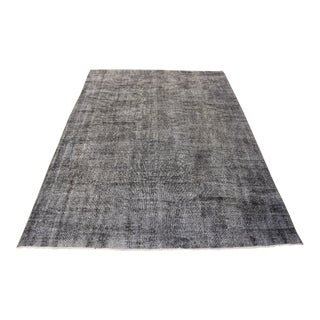 "Gray Color Turkish Overdyed Rug - 6'8"" x 9'1"""