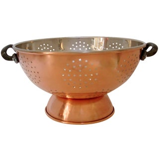 Large Copper Clad Colander