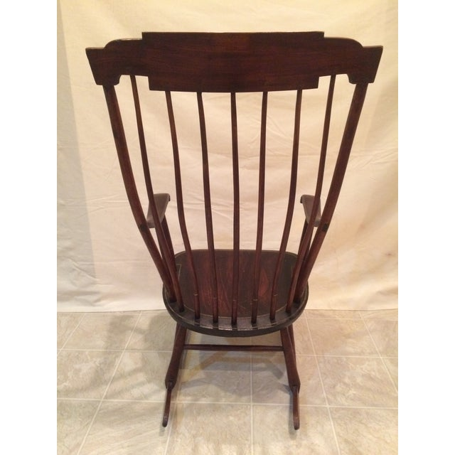 Image of Antique Federal Period Boston Windsor Rocking Chair. Antique Federal Period Boston Windsor Rocking Chair   Chairish