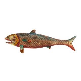 Vintage Wood Carved Fish