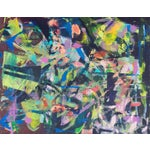 Image of Contemporary Lilac & Chestnut Abstract
