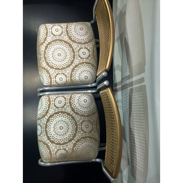 Gold Retro Twine Dining Chairs - 4 - Image 3 of 5