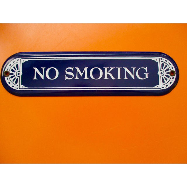 """Enamel Porcelain """"No Smoking"""" Sign - Image 7 of 7"""