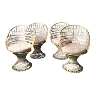 Russell Woodard Spun Fiberglass Chairs - Set of 4