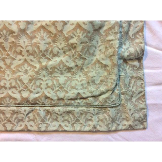 Aged Fortuny Fabric Euro Shams - Pair - Image 4 of 6