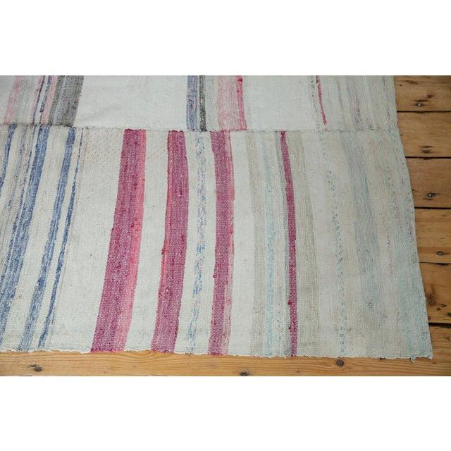 "Image of Vintage Multi-Colored Rag Rug - 7' 7"" x 10' 9"""