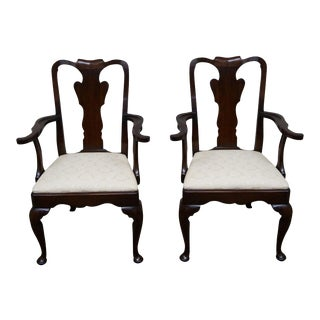 Statton Old Towne Cherry Queen Anne Chairs - Pair