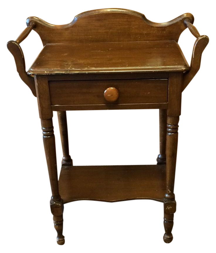 Antique Single Drawer Washstand Side Table