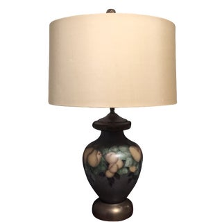 Vintage Hand-Painted Pear Lamp