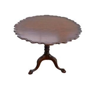 Vintage Pie Crust Swivel Tea Table