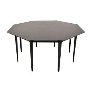 John Stuart Octagonal Ebonized Coffee Table