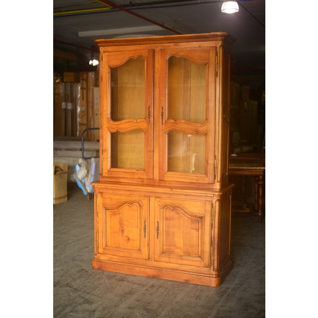 French Cherrywood & Glass Bookcase - Image 2 of 5