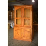 Image of French Cherrywood & Glass Bookcase