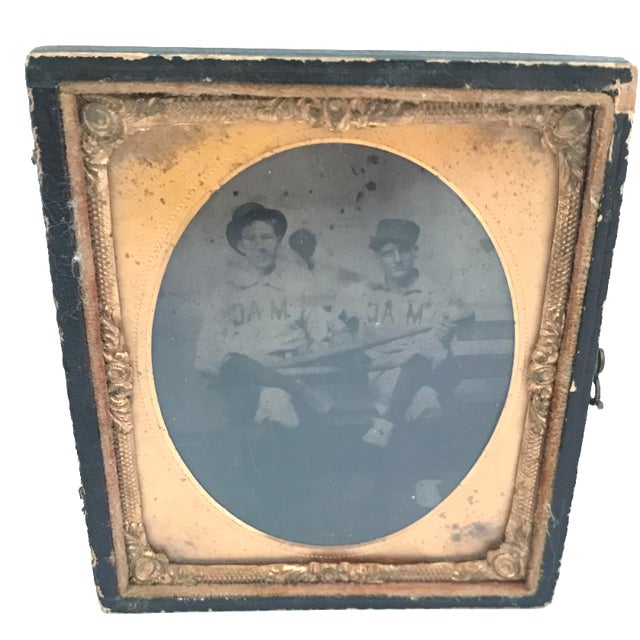 Image of Daguerreotype Copper Framed Baseball Players