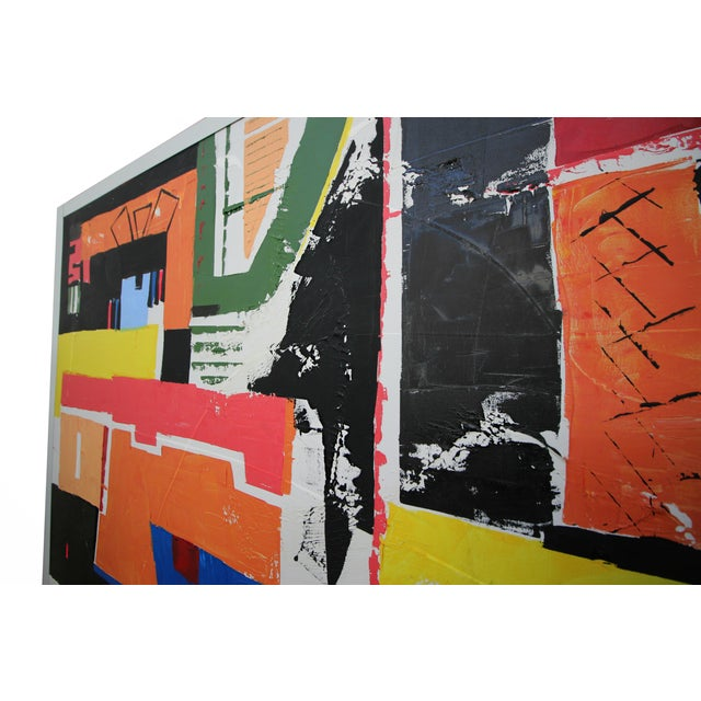 Monumental 8ft Modern Abstract Acrylic Painting on Canvas - Image 4 of 5
