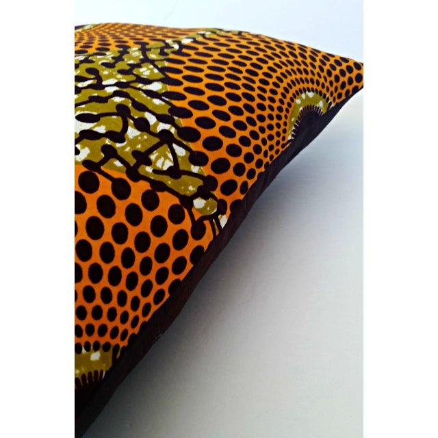Summer Harvest African Wax Print Pillows- Pair - Image 3 of 5