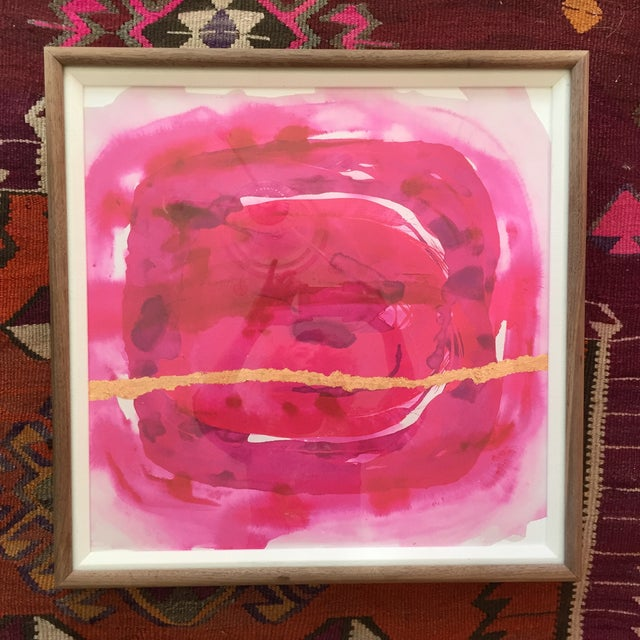 Image of Framed Painting - Wabi Sabi Fuschia