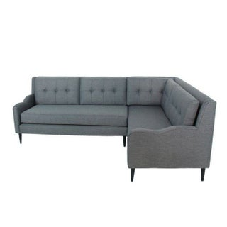 Genova Mid-Century Style Sectional Sofa Grey