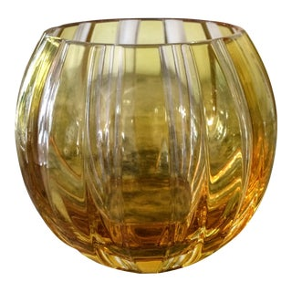 Faberge Parallele Gold Crystal Votive
