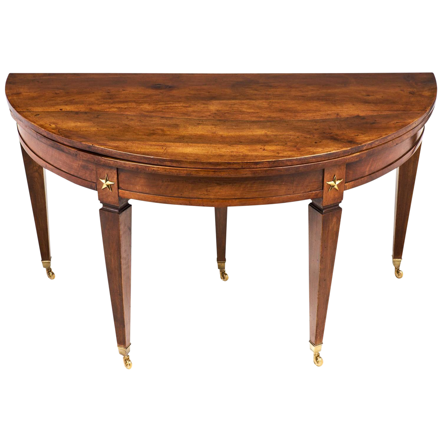 French Directoire Folding Demilune Table
