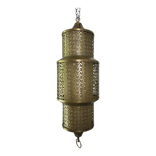 Vintage Moroccan Brass Pendant Lamp