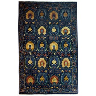 "New Suzani Hand-Knotted Rug - 5'3"" x 8'1"""