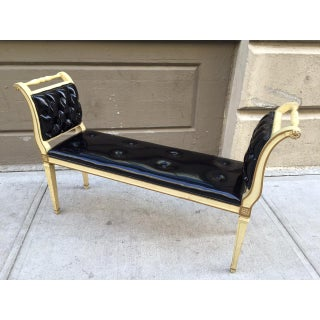 Painted Louis XIV Style Tufted Window Bench