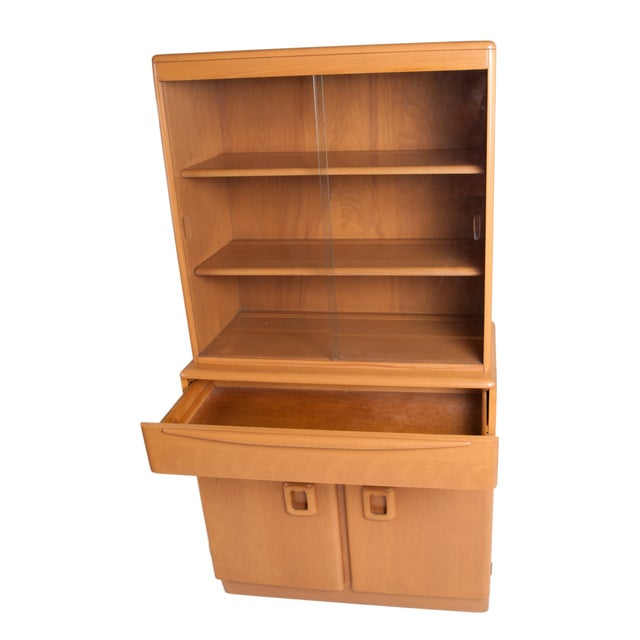 Heywood Wakefield Solid Maple Display Hutch - Image 2 of 4