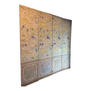 Vintage Hand Blocked Wallpaper Folding Screen