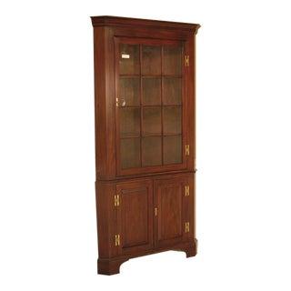 Harris 12 Pane Crackle Glass Mahogany Corner Cabinet
