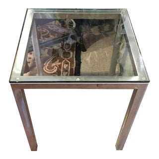 Storehouse Metal & Glass Side Table