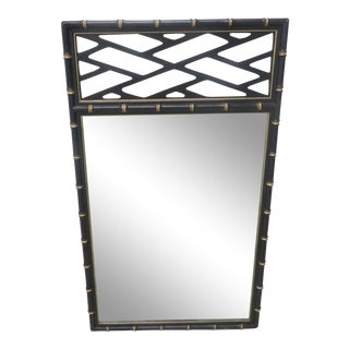 Kindel Ebonized & Gilt Faux Bamboo Mirror