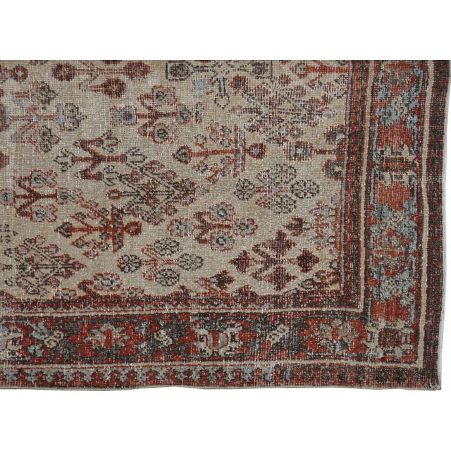 "Antique Persian Distressed Rug - 4'2"" X 6'3"" - Image 3 of 4"
