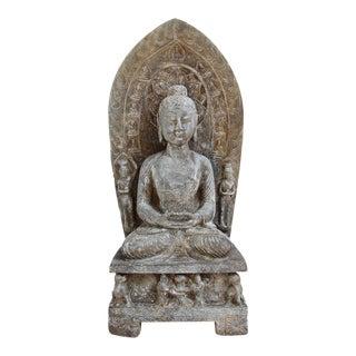 Stone Buddha Plaque Statue