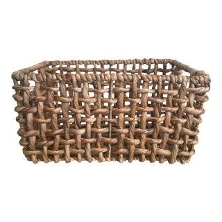 Woven Seagrass Square Basket