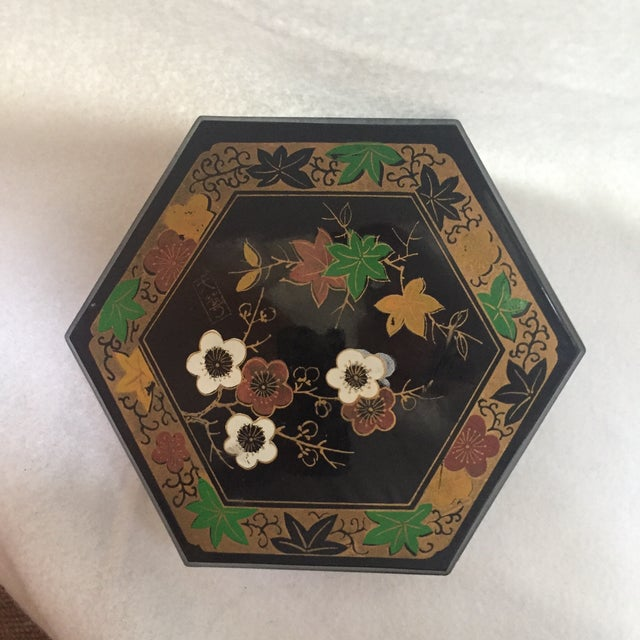 1950s Vintage Japanese Lacquer Style Box - Image 3 of 5