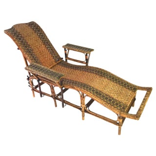 Woven Vintage Rattan Chaise